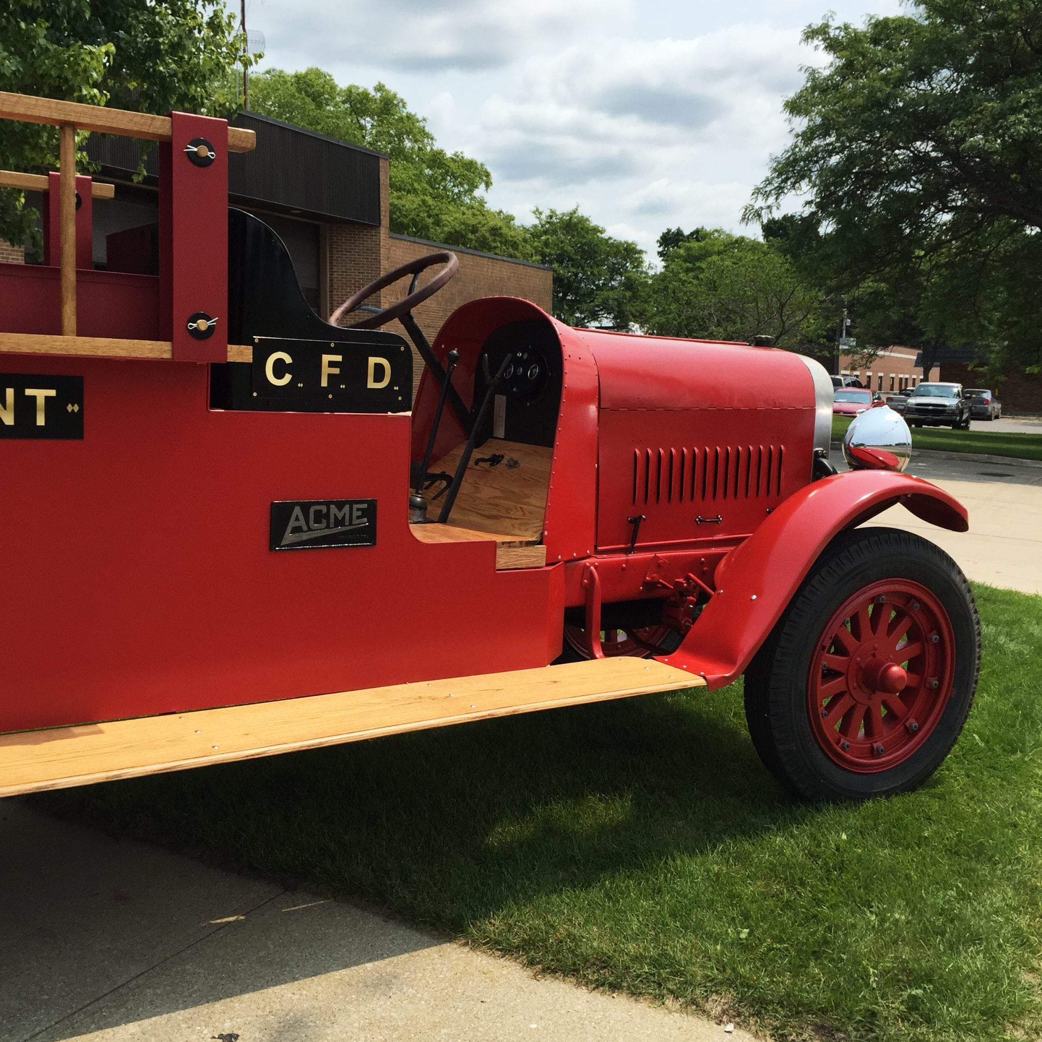 Antique fire truck showing rich history of Cadillac Castings